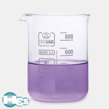 Isolab Low form Borosilicate glass beaker
