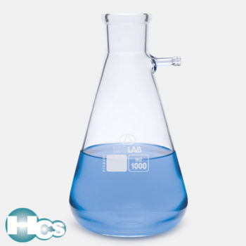 Isolab Conical Flasks with Glass Side arm