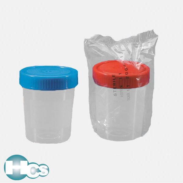 Kartell Urine Cups with screw cap